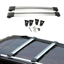 "Universal 36""-39"" Car Top Rack Aluminum Cross Bar Roof Cargo Luggage Rack Frame"