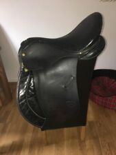 Black English Leather Equxtra 17 Inch GP Saddle Medium Width
