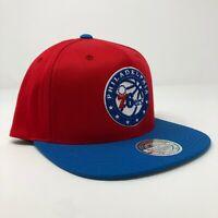 New Mitchell & Ness Philadelphia 76ers NBA Flex Fit Red Adjustable Snapback Cap