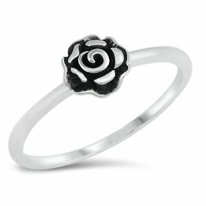 925 argent sterling plaqué or rose fine classique Band Ring Taille 5 1//4