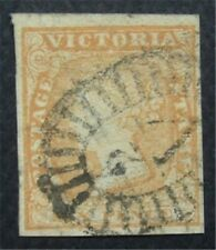 nystamps British Australian States Victoria Stamp # 17 Used  O22x1838