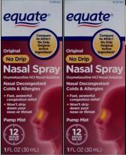 Equate Nasal Spray Original No Drip 1 fl oz Each (No box) (Pack of 2) Exp 3/18+