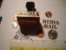 media mail  WOOD MOUNTED RUBBER STAMP package shipping  postal stamp tool