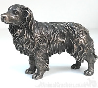 Bronze Border Collie Sheepdog sculpture ornament figurine Sheep Dog lover gift