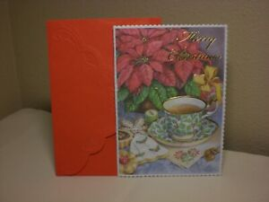 Carol's Rose Garden - Christmas Boxed 8 cds of Teacups & Poinsettias