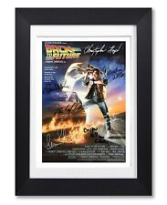 BACK TO THE FUTURE MOVIE CAST SIGNED POSTER PRINT PHOTO AUTOGRAPH GIFT FILM