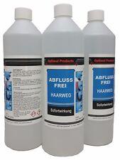 Abflussfrei EXTREM-WIRKUNG  3 X 1 Liter Flasche Haarweg