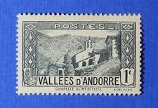 1932 ANDORRA FRENCH 1c SCOTT# 23 MICHEL # 24 UNUSED                      CS26166