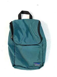 "LL Bean Toiletry Bag Green Travel Vacation Hanging Bag Large 14""x8"""