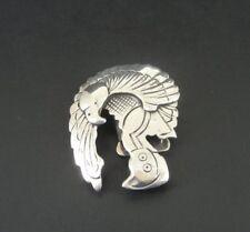 Vintage Eagle Dancer Native Design Sterling Silver 925 Bolo Tie SLIDE