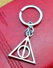 Harry Potter Deathly Hallows Symbol Keychain Silver 4cm Us Seller