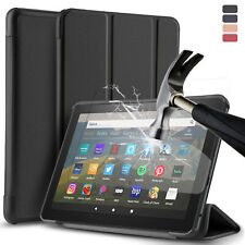 For Kindle Fire HD 8 / 8 Plus 2020 10th Gen Tablet Case Cover/Screen Protector