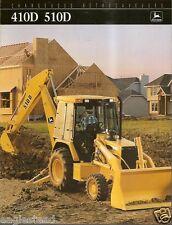 Equipment Brochure - John Deere - 410D 510D Loader Backhoe c1994 French (E1878)