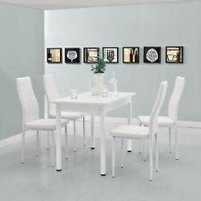 [en.casa]® Esstisch mit 4 Stühlen weiß 120x60cm Küchentisch Esszimmertisch Tisch