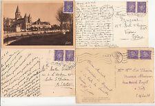 Lot 4 cartes postales timbrées timbres état français 1942-1943 Maréchal PETAIN 3