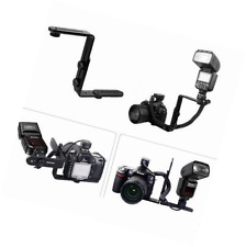 Racksoy Metal L-Shape Flash Bracket Flashlight Camera Holder Mount Quick Flip DS