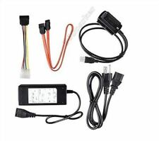 Cable+Power Cord 3 In 1 Usb 2.0 To Sata/Ide Adapter New Ic ba