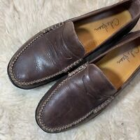 Men Cole Haan C07638 XJ09 French Penny Loafer Brown Leather Driving Shoe 10.5 M