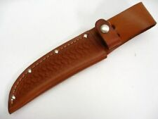 """BROWN Leather SHEATH For Straight Fixed Blade Knife Up To 5"""" Blade SH1134 New!"""