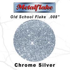 METAL FLAKE AUTO SILVER GLITTER (0.008) CUSTOM PAINT FLAKES 60GRAM 2OZ SILVER