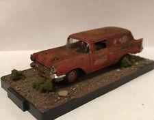 1957 Chevy Wagon 1/64 Diecast Custom Rusty Weathered Diorama Barn Find Coca Cola