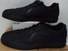 New Mens 11 Converse Star Player Street OX All Black Canvas Shoes 146645C $55