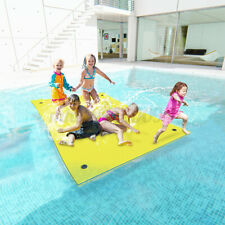 9X6FT 3-Layer Floating Water Pads Float Sports XPE Foam Mats Swimming Pool Beach