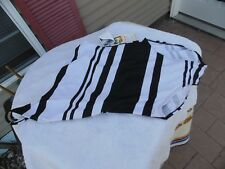 Sun Streak by newport news~ women's size 10 T black white one piece one shoulder