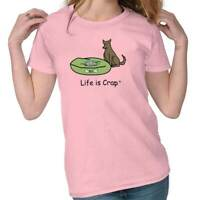 Life is Crap Dog Thief Funny Shirt Cute Puppy Gift Idea Cool Ladies Tee Shirt T