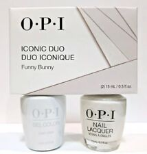 OPI Iconic Duo Funny Bunny GCH22 NLH22 GelColor + Nail Lacquer Matching Duo .5oz