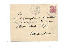 MSP No 20 ( SMS Iltis ) 2 x auf Pracht-Brief m. DR 71 ans Rechnungsamt  Wilhelms