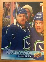 UPPER DECK 2016-2017 SERIES ONE CANVAS DANIEL SEDIN HOCKEY CARD C-80