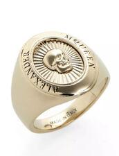 ALEXANDER MCQUEEN Skull Motif Signet Ring Size 21