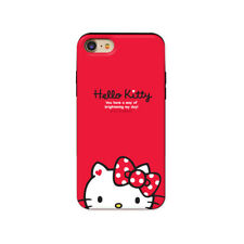 Hello Kitty Half Face Slide Card Dual Bumper Case For Apple iPhone XR / XS Max