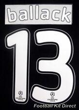Chelsea Ballack 13 2007/08 Uefa Champions League Final Football Shirt Name Set