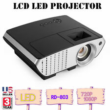Portable Full HD 1080P 3D Multimedia Projector LED Smart Home Theater HDMI Qi