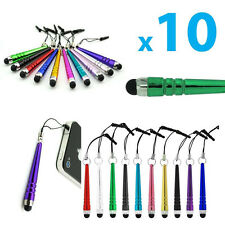 Random 10Pcs Metal Styluses Screen Touch Pen Dust Plug For iPhone iPad Tablet