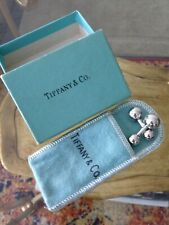 BOX & Pouch Vintage Tiffany & Co. Sterling Silver Barbell Cuff Links Mexico