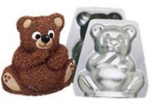 Wilton Mini Stand Up Teddy Bear Cake Candy Pan Aluminum Birthday 3D Baby Shower