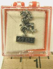 Vintage 1960's NFL Metal Tie Tack Lapel Pin San Francisco 49ers Silver  Ballou