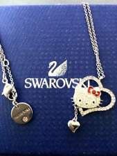 Swarovski x Hello Kitty Heart Pendant Necklace LIMITED EDITION From Japan New