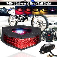 5 IN 1 LED Moto Luce Posteriore Freno Giri Indicatori Lampada