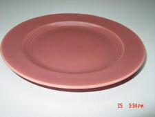 Vintage Bauer Homer Laughlin Harlequin? Ringware Rose Color Plate Unmarked Used