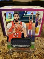🔥ANTHONY DAVIS SPECTRA HOLO GAME WORN PATCH /99 NEW ORLEANS PELICANS LAKERS🔥