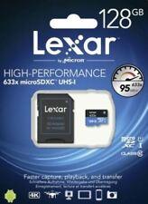 Lexar High Performance 633x 128 GB MicroSDXC UHS-I Card With SD Adapter - 128GB