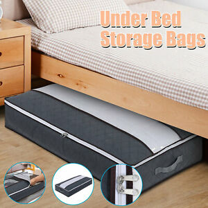 1/2 PCS Under Bed Storage Bag Containers Shoe Clothes Bin Box Underbed Organizer