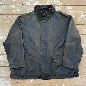 """Barbour Bedale Jacket 48"""" A105 Blue Made In England Wax Coat"""