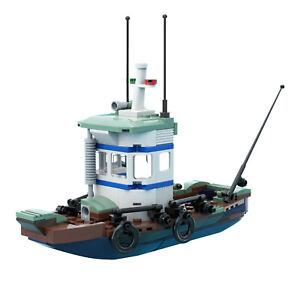 Old Fishing Store Boat Building Bricks Toys Set 171 Pieces Parts Shrimp Boat