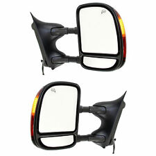 New Set of 2 Power Heated Towing Mirror for Ford F-250 Super Duty 2003-2007 Pair