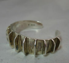 Vintage Silver Cuff Bangle JR London 1968 55.6g 5.7cm Inner Width A600417